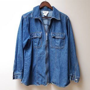 Vintage oversize denim jacket / cotton ginny